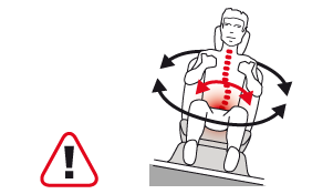 Backache in the car : Very harmful right and left tilts in turns!